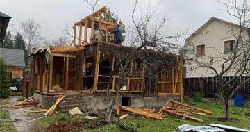 Демонтаж частных домов, дач, бань и коттеджей