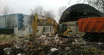 Демонтаж складов и ангаров